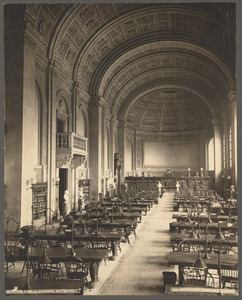 Bates Hall. Main reading room. Boston Public Library