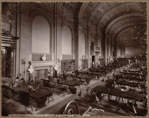 Boston Public Library, Bates Hall. West side