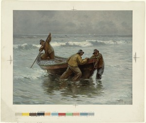 Fisherman bringing in their catch