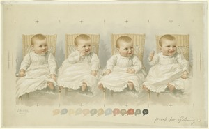 Baby with Four Facial Expressions