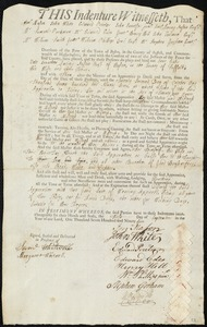 Document of indenture: Servant: Gally [Legalley], Jane. Master: Austin, Jonathan L. Town of Master: Boston