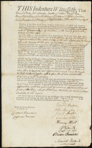 Document of indenture: Servant: Ramsdell, Catharine. Master: Payne, Ebenezer. Town of Master: Camden