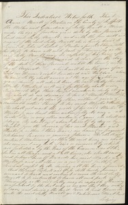 Document of indenture: Servant: Newell, Sally. Master: Roberts, John L. Town of Master: Boston