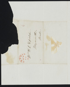 Letter from Joseph Hutchinson for the  Comm. Norfolk County Anti-slavery Society, Dedham, to Hannah C. Fifield, April 12, 1841