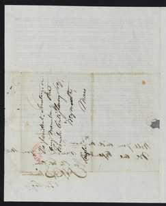 Letter from H. B. Stanton for the Executive Committee of the American Anti-slavery Society, New York, Oct. 7, 1837