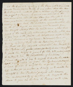 Letter from H. C. Fifield to Rev. Jonas Perkins, ca. 1842
