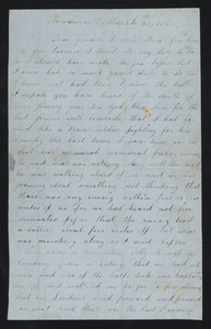 Letter from William Jones to Mr. and Mrs. Ryan, March 23, 1862