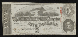 Confederate currency, $5