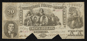 Confederate currency, $20