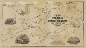 Plan of the premises of the Weymouth Iron Company, East Weymouth, Mass.