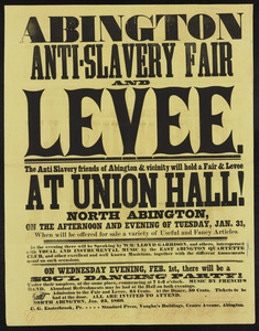 Abington Anti-slavery Fair and levee