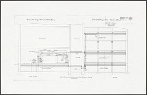 John R. Alley & Sons. Boston Mass. Plan of ammonia connections and direct expansion piping. Order #4303