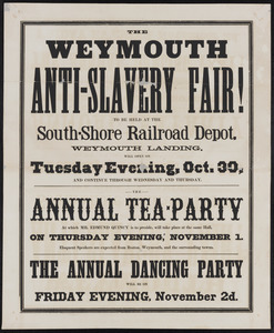 The Weymouth Anti-slavery Fair