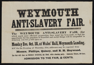 Weymouth Anti-slavery Fair