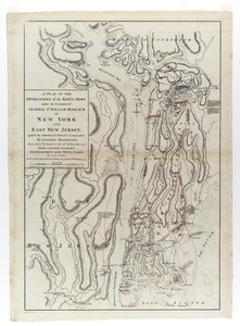 A plan of the operations of the King's army under the command of General Sr. William Howe, K.B. in New York and east New Jersey, against the American forces commanded by General Washington, from the 12th. of October, to the 28th. of November 1776