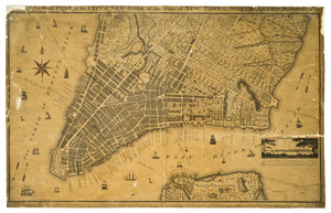 A new & accurate plan of the city of New York in the state of New York in North America