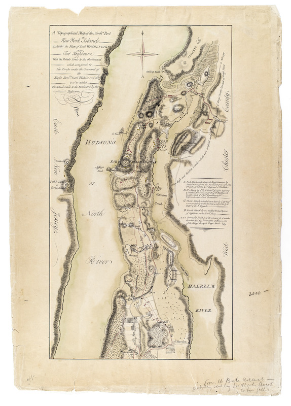Fort Washington Map.A Topographical Map Of The Northn Part Of New York Island Exhibitg