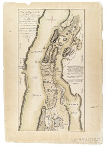 A Topographical map of the northn. part of New York Island, exhibitg. the plan of Fort Washington now Fort Knyphausen, with the rebel's lines to the southward, which were forced by the troops under the command of the Right Honble. Earl Percy Novr. 16th. 1776, to wc. is added, the attack made to the northward by the Hessians