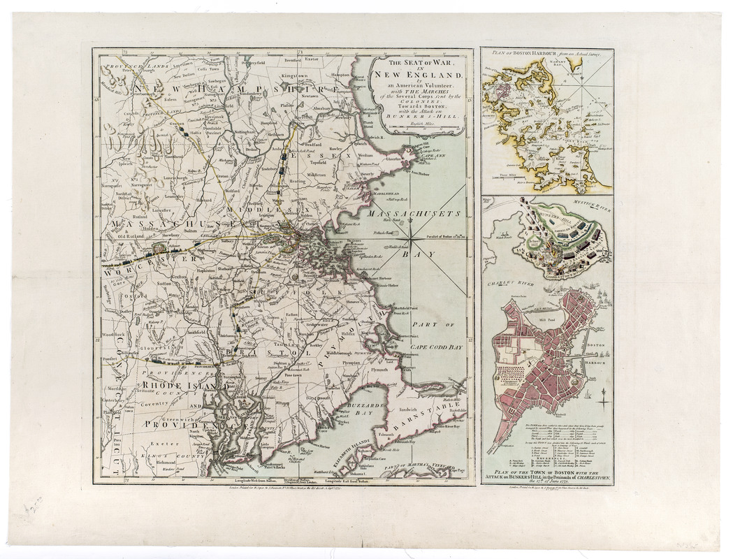 The seat of war, in New England, by an American volunteer