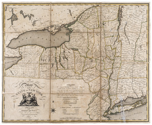 A map of the state of New York