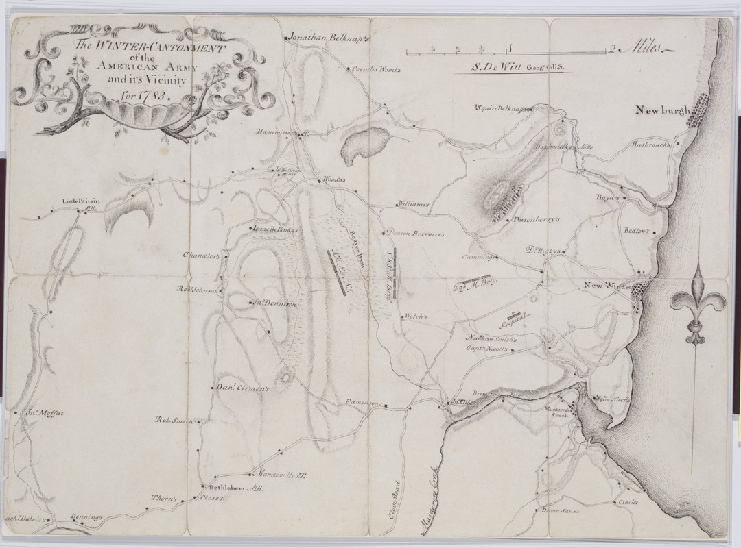 The Winter-Cantonment of the American Army and it's Vicinity for 1783