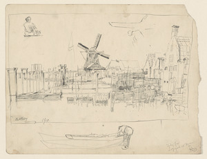 """Study for """"Logyards at Hoorn"""""""