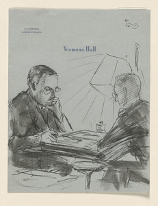 Sketch of Mr. Wiggin at Yeaman's Hall