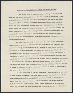 Herbert Brutus Ehrmann Papers, 1906-1970. Sacco-Vanzetti. Comments on decisions, reports etc. Box 11, Folder 2, Harvard Law School Library, Historical & Special Collections
