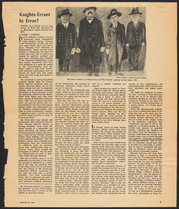 "Herbert Brutus Ehrmann Papers, 1906-1970. Sacco-Vanzetti. David Felix: reviews of ""Protest"", letters to editors, 1966. Box 12, Folder 9, Harvard Law School Library, Historical & Special Collections"