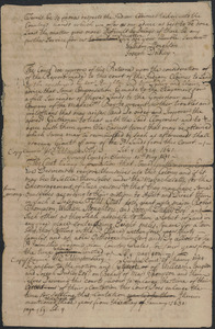 Copy of the record of the general court in relation to the settlement of claims, by Indians and others, to land in the Nipmug country, and making a grant of portions of those lands to William Stoughton and Joseph Dudley, 1681 May 11 to 1685 May 27