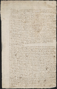 Letter from John Cotton, Plymouth, to Rowland Cotton, Sandwich,1696 July 27