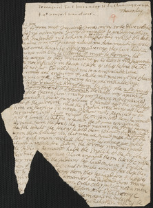 Letter from John Cotton to Rowland Cotton, 1696 August 5 or 6