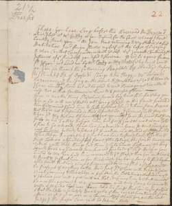 Letter from John Callender to Nathan Prince, Cambridge, 1731 September 29
