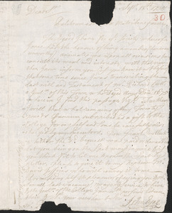 Letter from John Eyre to Nathan Prince, Cambridge, 1735 September 18