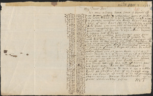 Letter from Mary Thacher to her brother Peter Thacher, Middleborough, 1741/1742 March 9 ; Letter from Peter Thacher to Nathan Prince, 1740 May 9
