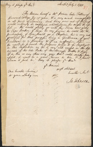 Letter from Samuel Johnson, Stratford, to Governor Jonathan Law, Milford, 1745 July 1