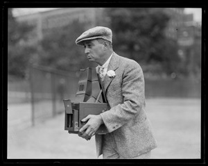 Prof. Leslie R. Jones with his Graflex camera