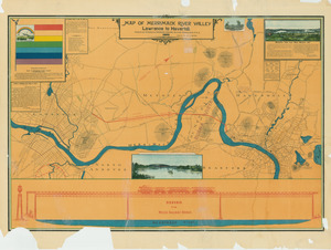 Map of Merrimack River valley Lawrence to Haverhill