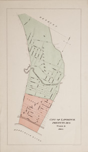 City of Lawrence, precincts 1 & 2, ward 1