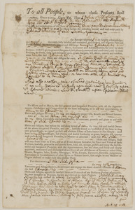 Mortgage deed from Joshua Child to Edmund Wheeler for 10 acres land and buildings in Lincoln, and another ½ acre land in consideration of 73£ 17/ 4p.