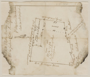 Plan of land in Lincoln conveyed from Brooks to Child, April 25, 1768