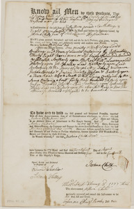 Deed from Joshua Child, Sr. to Joshua Child, Jr. for 38 acres land in Lincoln, in consideration of 53£.