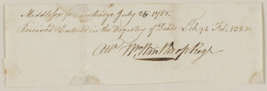 Deed from Oliver Mann to Joshua Child for 7 acres land with dwelling, barn, and cooper shop, in consideration of 120£