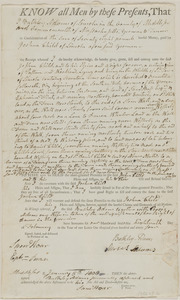 Deed of Bulkley Adams to Joshua Child for 17 acres land in Lincoln, in consideration of 78£