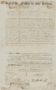 Deed of Nathaniel Call to Joshua Child for land and building in Lincoln, in consideration of $450