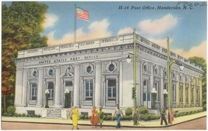 H-14. Post office, Henderson, N. C.