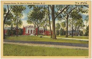 Campus scene, St. Mary's School, Raleigh, N. C.