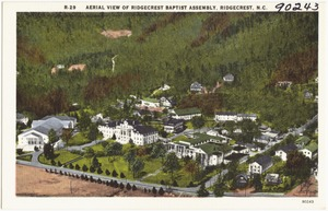 Aerial view of Ridgecrest Baptist Assembly, Ridgecrest, N.C.