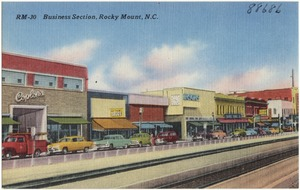 Business section, Rocky Mount, N.C.