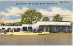 Twin County Motor Co., the brightest corner in Rocky Mount